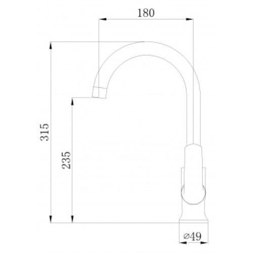 Смеситель кухонный MIXXEN Конкорд MXKL1203W