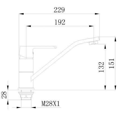 Смеситель кухонный MIXXEN Конкорд MXKL1205W