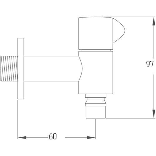 Кран для воды POTATO P-MONO P4154