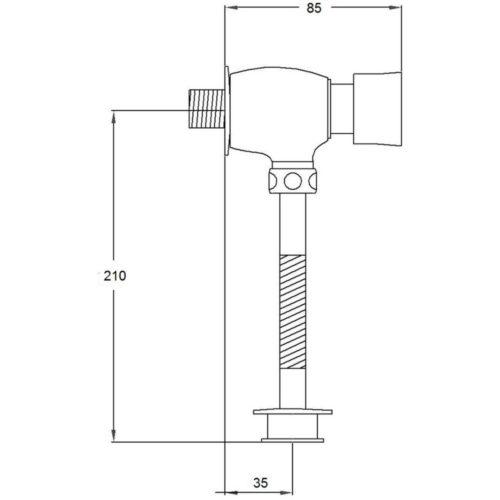 Смывное устройство POTATO P-MONO P903