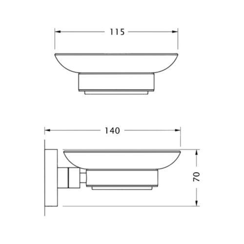 Мыльница в ванную POTATO P2900 P2902