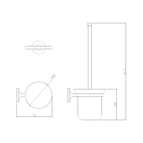 Туалетный ершик POTATO P29 P2910