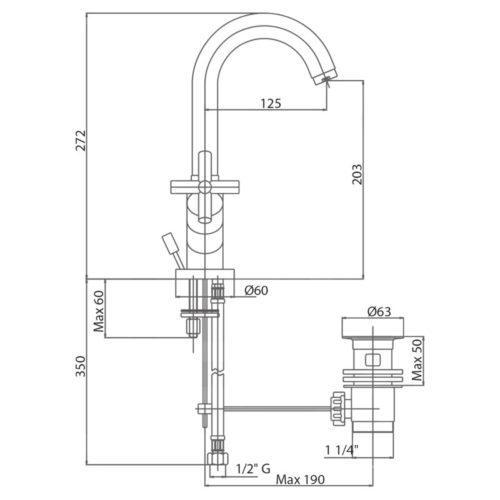 Смеситель для раковины Bianchi Amelix LVBAML1101IACRM SD00020371
