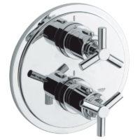 Внешняя часть термостатического смесителя для ванны Grohe Atrio 19395000 для встроенной части 35500000