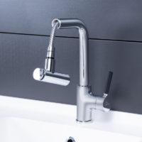 Смеситель для кухни с выдвижным изливом Qtap Inspai CRM 013F 28618Qtap (Чехия)