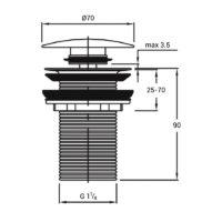 Донный клапан с системой Pop-up без перелива Qtap WHI F008 29339Qtap (Чехия)