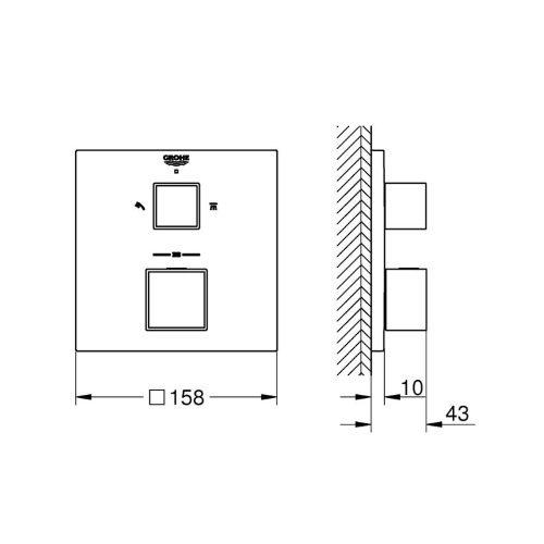 Термостат для душа Grohe Grohtherm Cube 24154000
