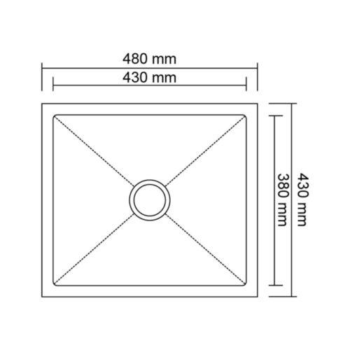 Мойка Imperial D4843 Handmade 2.7/1.0 mm 28776IMPERIAL