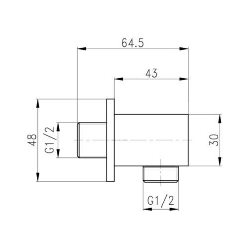 Подключение для душевого шланга Qtap CRM B130 29618Qtap (Чехия)