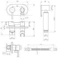 Набор для гигиенического душа Qtap Inspai-Varius CRM V00440501 (k35) 29626Qtap (Чехия)