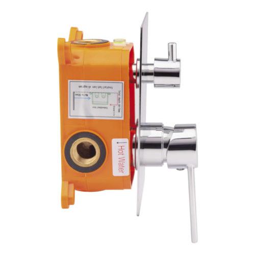 Cмеситель встроенный для душа Qtap Form CRM 010-22 SQ (k40) 30140Qtap (Чехия)