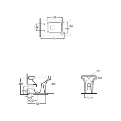 Унитаз+сидение Azzurra (Комплект) Tulip TUL100B1/P 30682AZZURRA