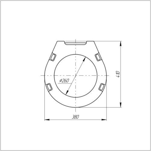 Унитаз+сидение Azzurra (Комплект) Vera VER100B1/SOSK 50 cm 30690AZZURRA
