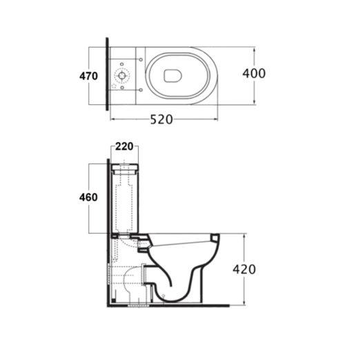 Унитаз+сидение+бачок+слив.механизм Azzurra (Комплект) Victorian style JUB100B1/MBP 30691AZZURRA