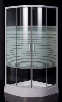 Eger 599-021-A/1 TISZA (AMUR) душевая кабина 90*90*185см (стекла + двери), профиль белый, стекло «Frizеk»