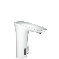 Смеситель для раковины электронный Hansgrohe PuraVida белый/хром 15170400