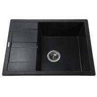 Гранитная мойка Globus Lux ONE черный 650х500