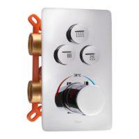Смеситель термостатический скрытого монтажа для душа Qtap Votice 6443T105NKC на три потребителя SD00041880