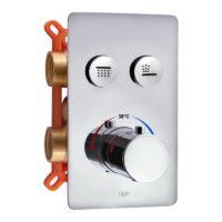 Смеситель термостатический скрытого монтажа для душа Qtap Votice 6442T105NKC на два потребителя SD00042659