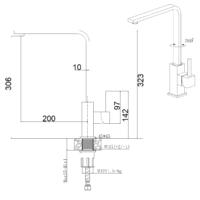 Кухонный смеситель FKM 52 SS Espresso Fabiano 8232.401.0660
