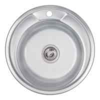 Кухонная мойка Lidz 490-A Decor 0,8 мм (LIDZ490ADEC)