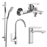 Imprese 51028555 KAMPA набор смесителей (4 в 1) для ванны и кухни