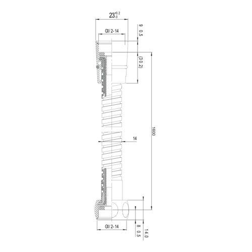 Шланг для душа с двойной оплеткой, стандарт, 1,6 м ПЭпак 1116 IMPRESE