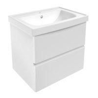 Volle 15-45-61 OLIVA комплект мебели 65см белый: тумба подвесная, 2 ящика + умывальник накладной
