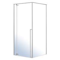 FREEZ душевая кабина 90*90*200см квадратная, левая, распашная дверь, без поддона, хром, стекло прозрачное 8мм