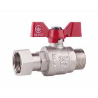 Кран шаровой с накидной гайкой SD Forte 1/2″ ВН для воды прямой SD00021094