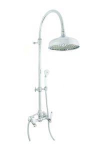 Душевая стойка с верхним душем EMMEVI DECO ceramica хром СR12100281