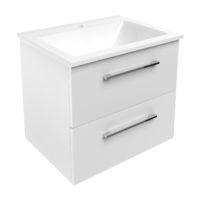 NEMO комплект мебели 60см белый: тумба подвесная, 2 ящика + умывальник накладной арт 15-17-60(2)
