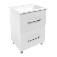NEMO комплект мебели 60см: тумба напольная, 2 ящика, белая + умывальник накладной арт 15-17-60(2)