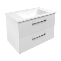 NEMO комплект мебели 80см белый: тумба подвесная, 2 ящика + умывальник накладной арт 15-17-80(2)