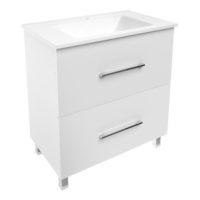 NEMO комплект мебели 80см белый: тумба напольная, 2 ящика + умывальник накладной арт 15-17-80(2)