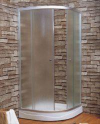 Душевая кабина 100*100*194 см, с мелким поддоном, стекло 4мм «FABRIС», цвет сатин