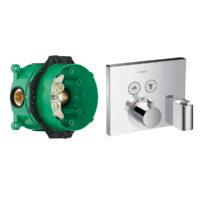 Термостат на 2 потребителя Hansgrohe Shower Select (15765000+01800180)