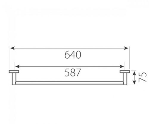 Вішалка одинарна для рушників Ferro Grace 204695