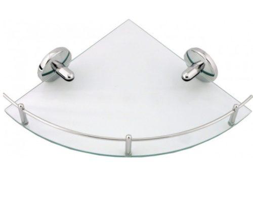 Скляна поличка кутова для ванної кімнати Ferro 204694