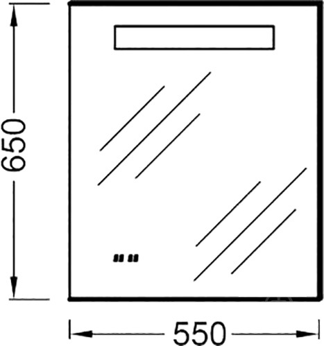 Зеркало Jacob Delafon Formilia 55 см (EB1040-NF)