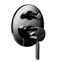 Смеситель для душа на 2 потока встраиваемый (черный матовый, без ручки) Kobuk Bugnatese KOBOP2272 WH nero