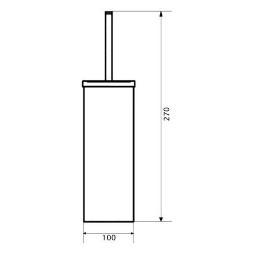 Ершик для унитаза Lidz (CRM)-121.05.09