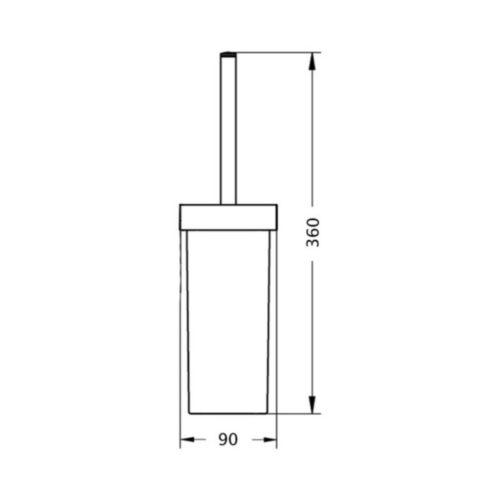 Ершик для унитаза Lidz (CRG)-121.05.05