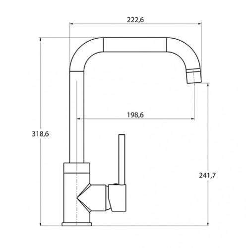 Смеситель для кухни Aquasanita Mirrus (5063-001)