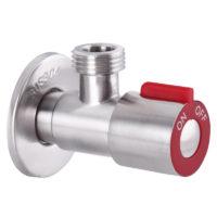 Кран из нержавеющей стали для подключения сантехприборов красный 1/2×1/2 VAL-02 Mixxus SS0049