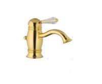 Смеситель для умывальника (золото, ручка Kristal) Oxford Bugnatese OXDO6319 kristal