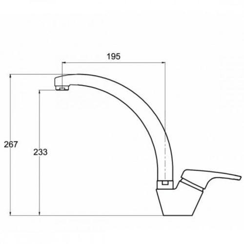 Кухонный смеситель AquaSanita Ambra (2813-120)