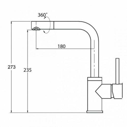 Смеситель для кухни Aquasanita Forte (5553-120)