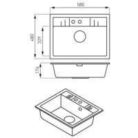 Кухонная мойка Ferro Mezzo II (DRGM1/48/58SA)