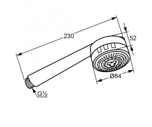 Ручной душ Kludi D-ZIRE (6080005-90)